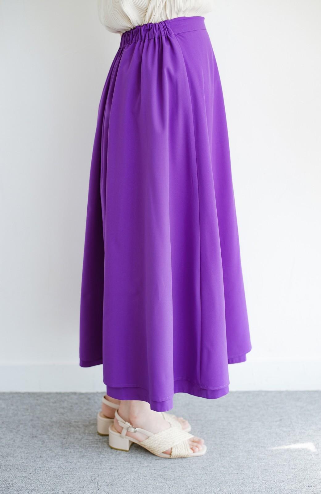 haco! オフィスにもデートにも! 便利なのはきれいに見えて楽ちんなリバーシブルスカート <ピンク系その他>の商品写真10