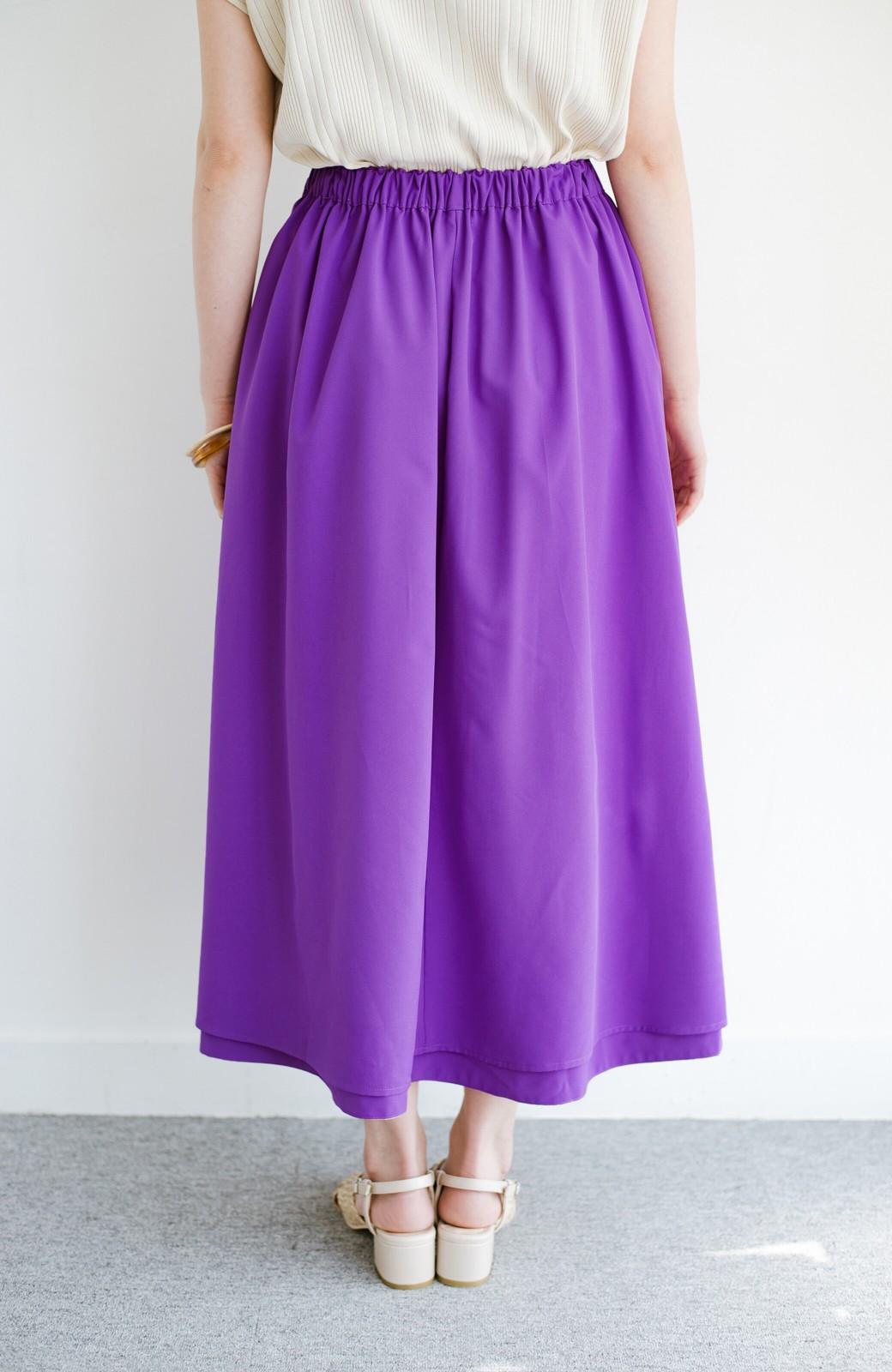 haco! オフィスにもデートにも! 便利なのはきれいに見えて楽ちんなリバーシブルスカート <ピンク系その他>の商品写真12
