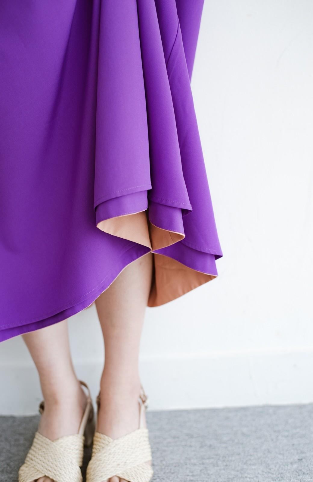haco! オフィスにもデートにも! 便利なのはきれいに見えて楽ちんなリバーシブルスカート <ピンク系その他>の商品写真13