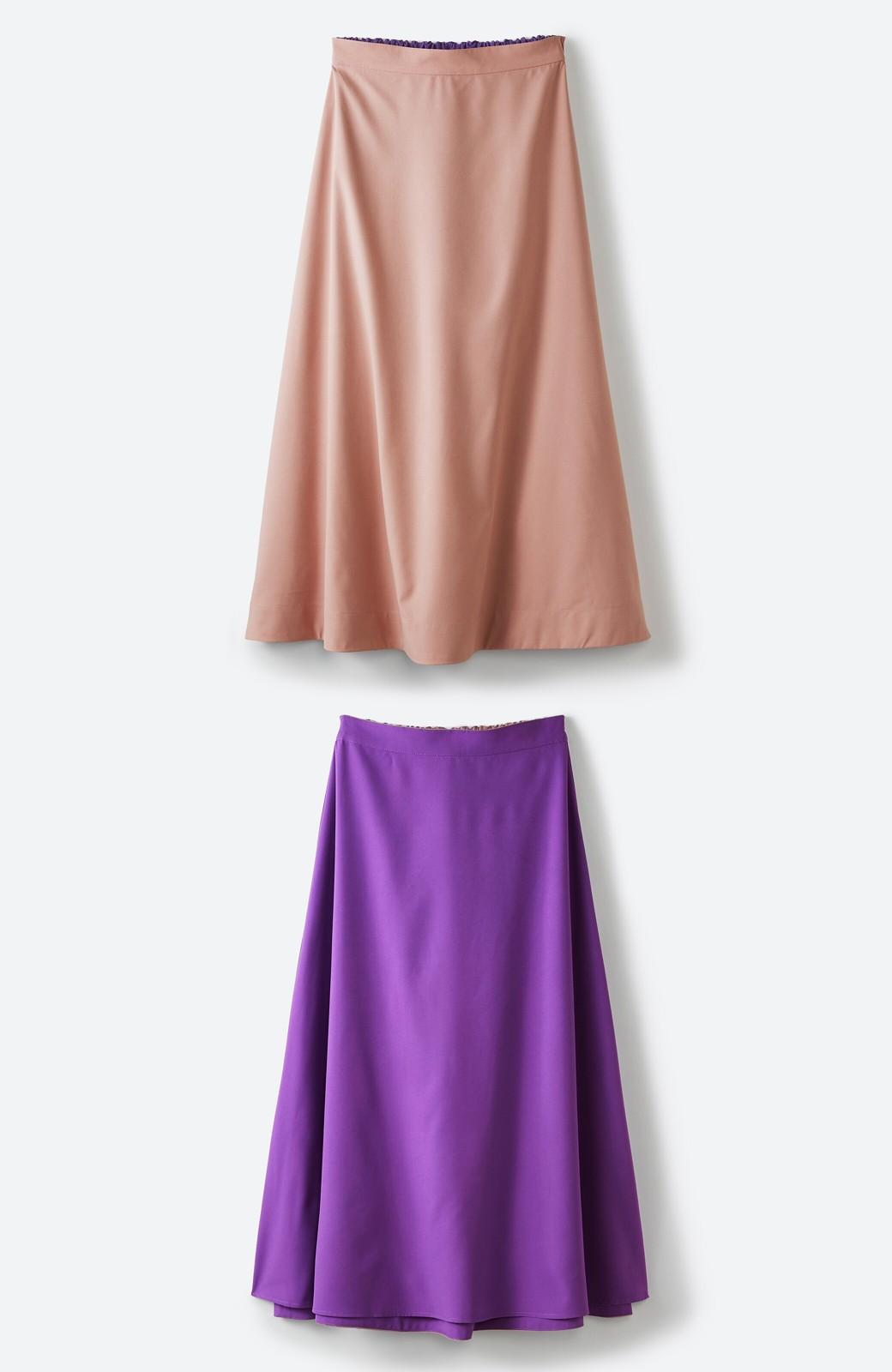 haco! オフィスにもデートにも! 便利なのはきれいに見えて楽ちんなリバーシブルスカート <ピンク系その他>の商品写真24