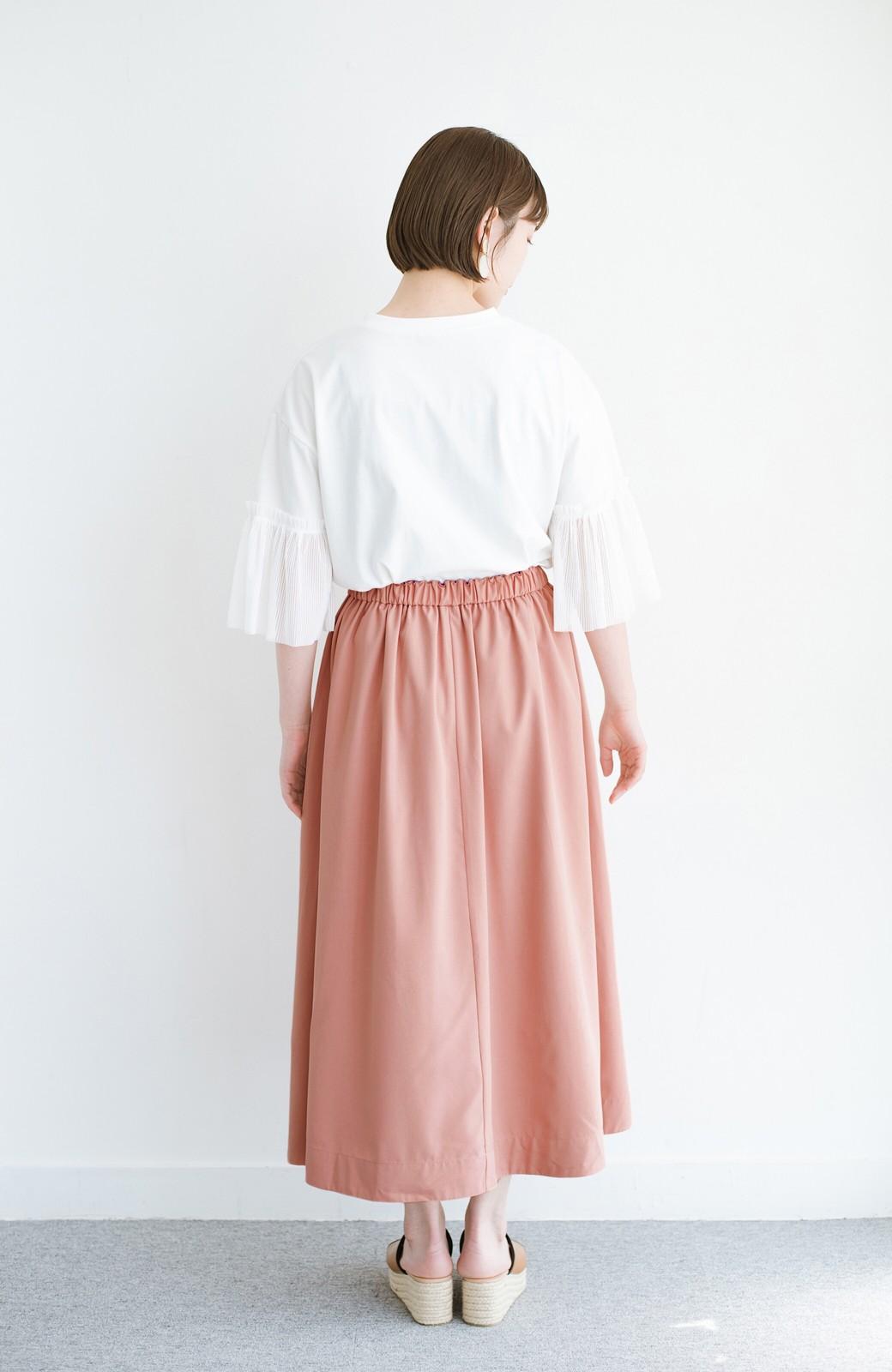 haco! オフィスにもデートにも! 便利なのはきれいに見えて楽ちんなリバーシブルスカート <ピンク系その他>の商品写真19