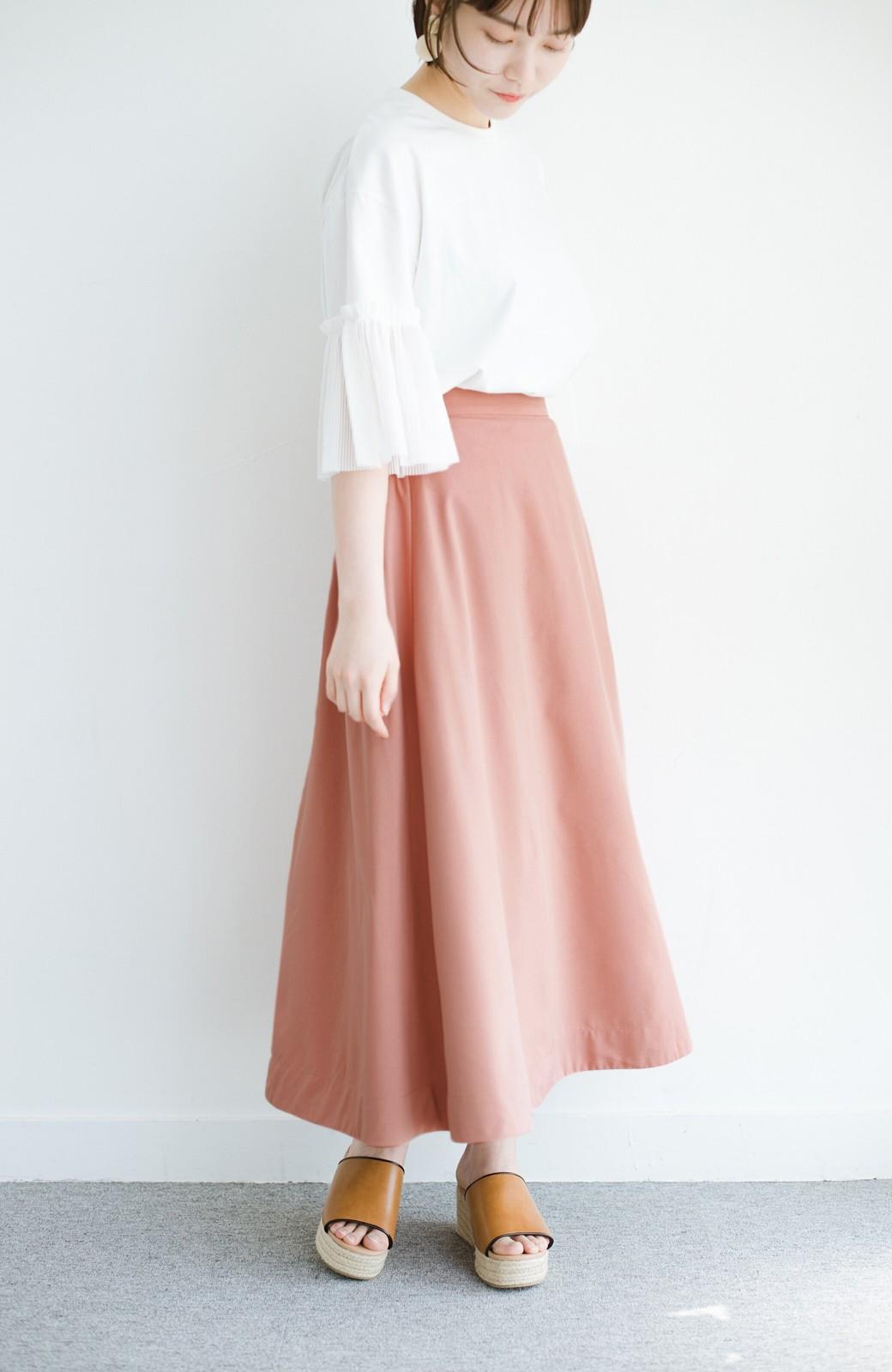 haco! オフィスにもデートにも! 便利なのはきれいに見えて楽ちんなリバーシブルスカート <ピンク系その他>の商品写真9