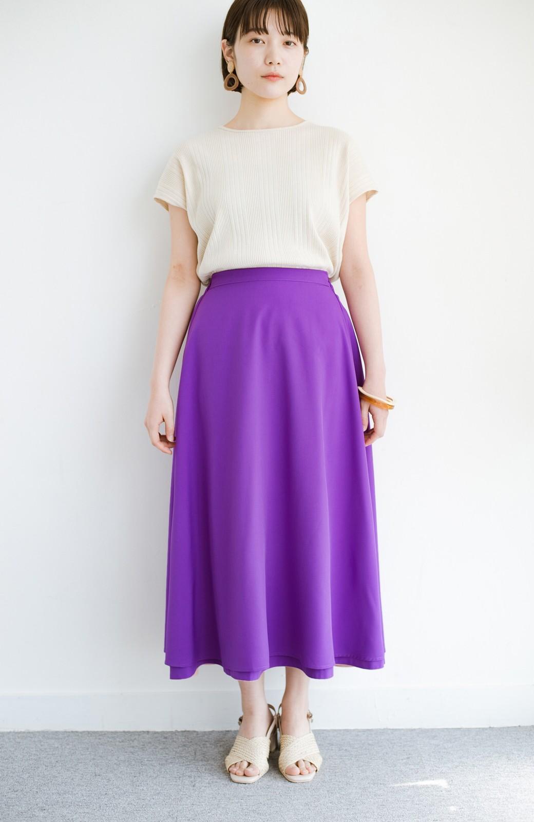 haco! オフィスにもデートにも! 便利なのはきれいに見えて楽ちんなリバーシブルスカート <ピンク系その他>の商品写真21