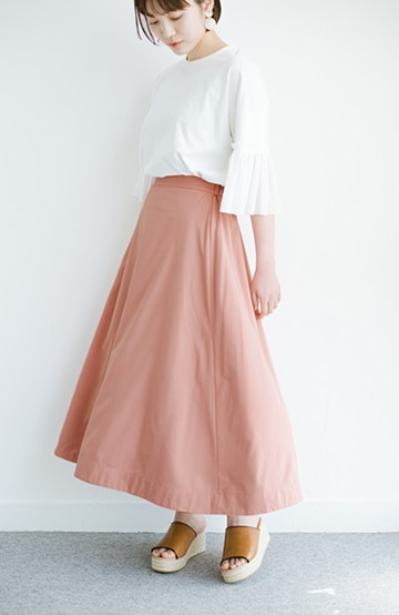 haco! オフィスにもデートにも! 便利なのはきれいに見えて楽ちんなリバーシブルスカート <ピンク系その他>の商品写真