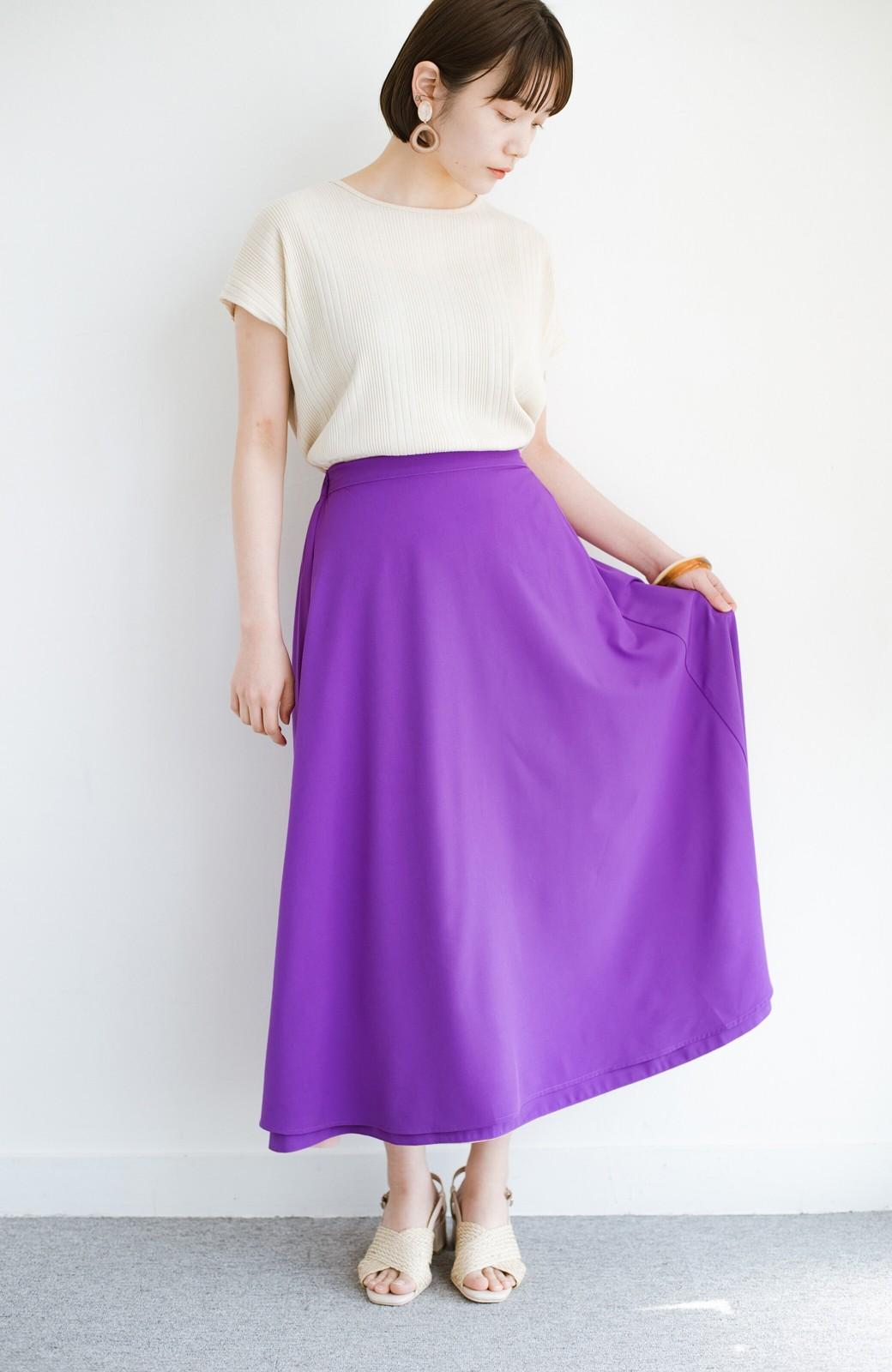 haco! オフィスにもデートにも! 便利なのはきれいに見えて楽ちんなリバーシブルスカート <ピンク系その他>の商品写真5