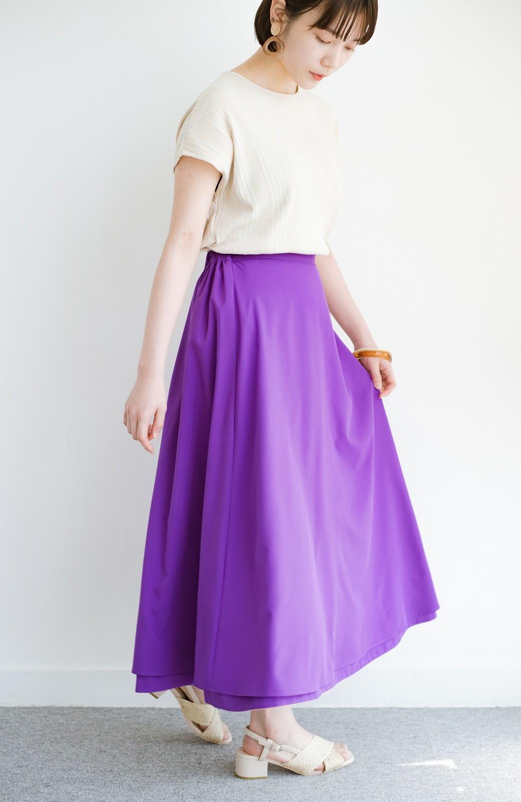 haco! オフィスにもデートにも! 便利なのはきれいに見えて楽ちんなリバーシブルスカート <ピンク系その他>の商品写真3