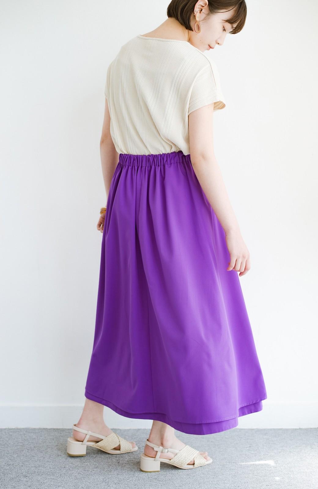 haco! オフィスにもデートにも! 便利なのはきれいに見えて楽ちんなリバーシブルスカート <ピンク系その他>の商品写真23