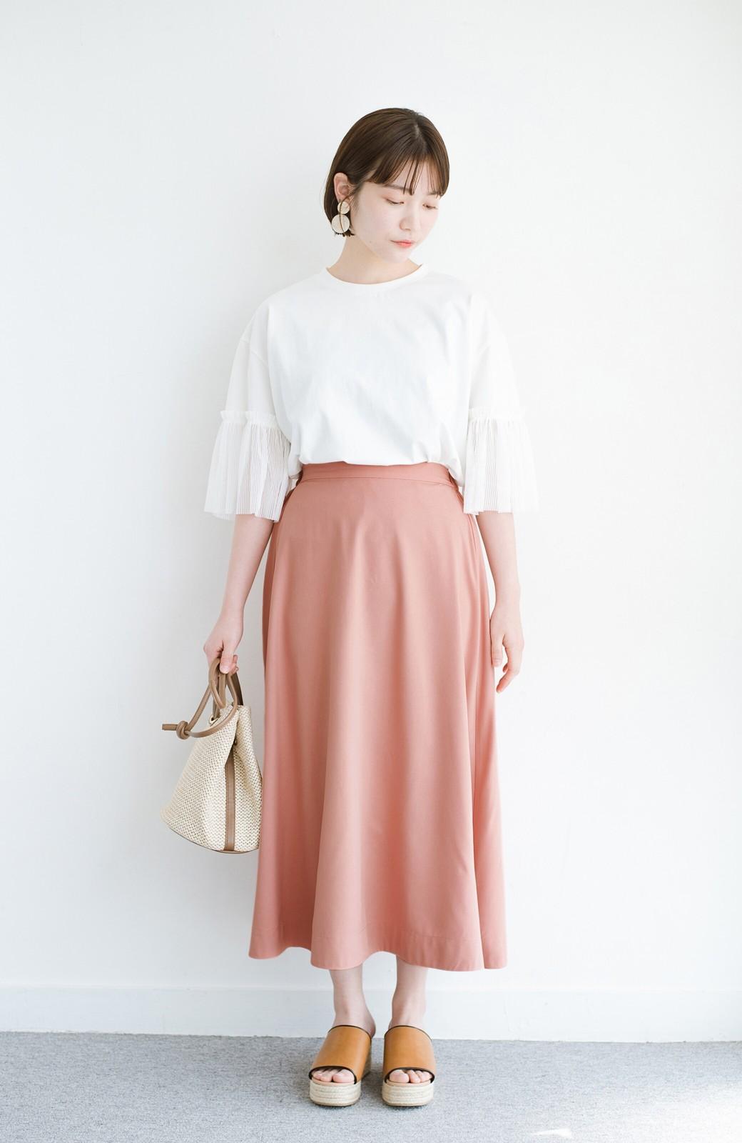 haco! オフィスにもデートにも! 便利なのはきれいに見えて楽ちんなリバーシブルスカート <ピンク系その他>の商品写真14