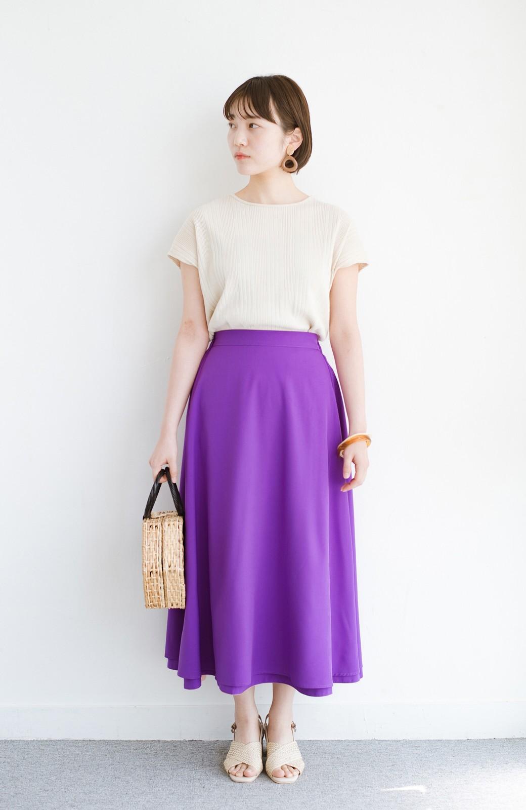 haco! オフィスにもデートにも! 便利なのはきれいに見えて楽ちんなリバーシブルスカート <ピンク系その他>の商品写真15