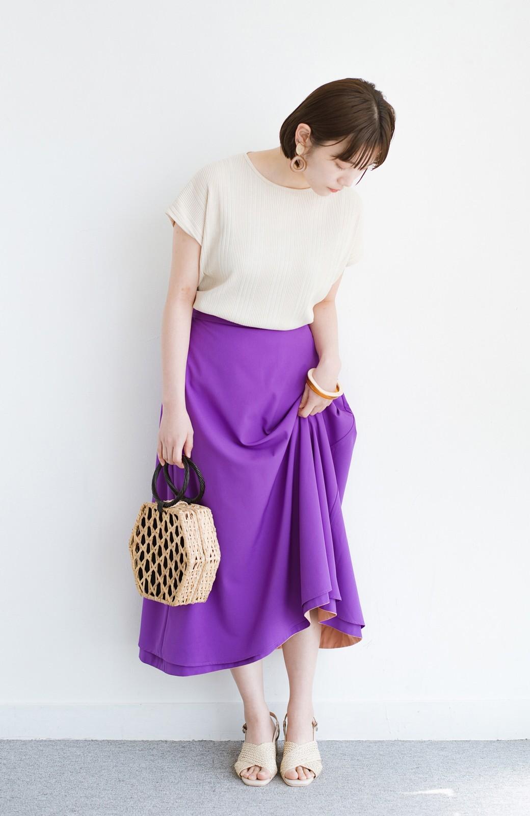 haco! オフィスにもデートにも! 便利なのはきれいに見えて楽ちんなリバーシブルスカート <ピンク系その他>の商品写真16