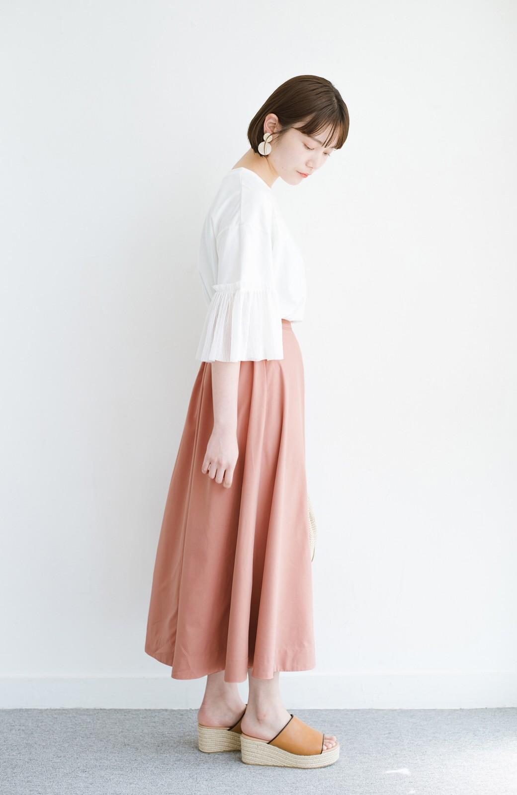 haco! オフィスにもデートにも! 便利なのはきれいに見えて楽ちんなリバーシブルスカート <ピンク系その他>の商品写真17