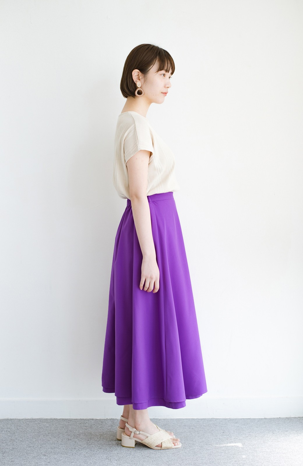 haco! オフィスにもデートにも! 便利なのはきれいに見えて楽ちんなリバーシブルスカート <ピンク系その他>の商品写真18