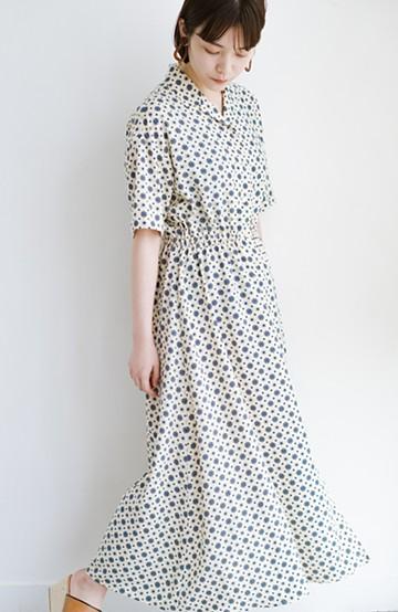 haco! 1枚でも羽織としても着られて便利! ルンと気分を上げてくれる柄ワンピース <アイボリー>の商品写真