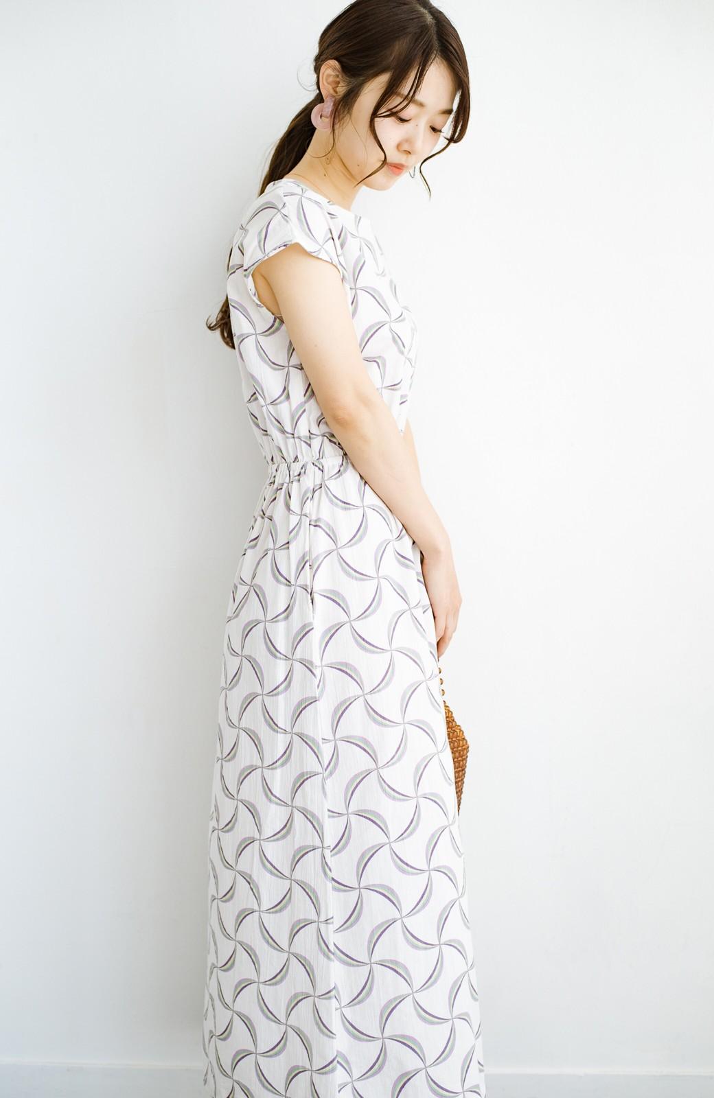 haco! 京都の浴衣屋さんと作った浴衣生地のウエストマークワンピース <ホワイト系その他>の商品写真16
