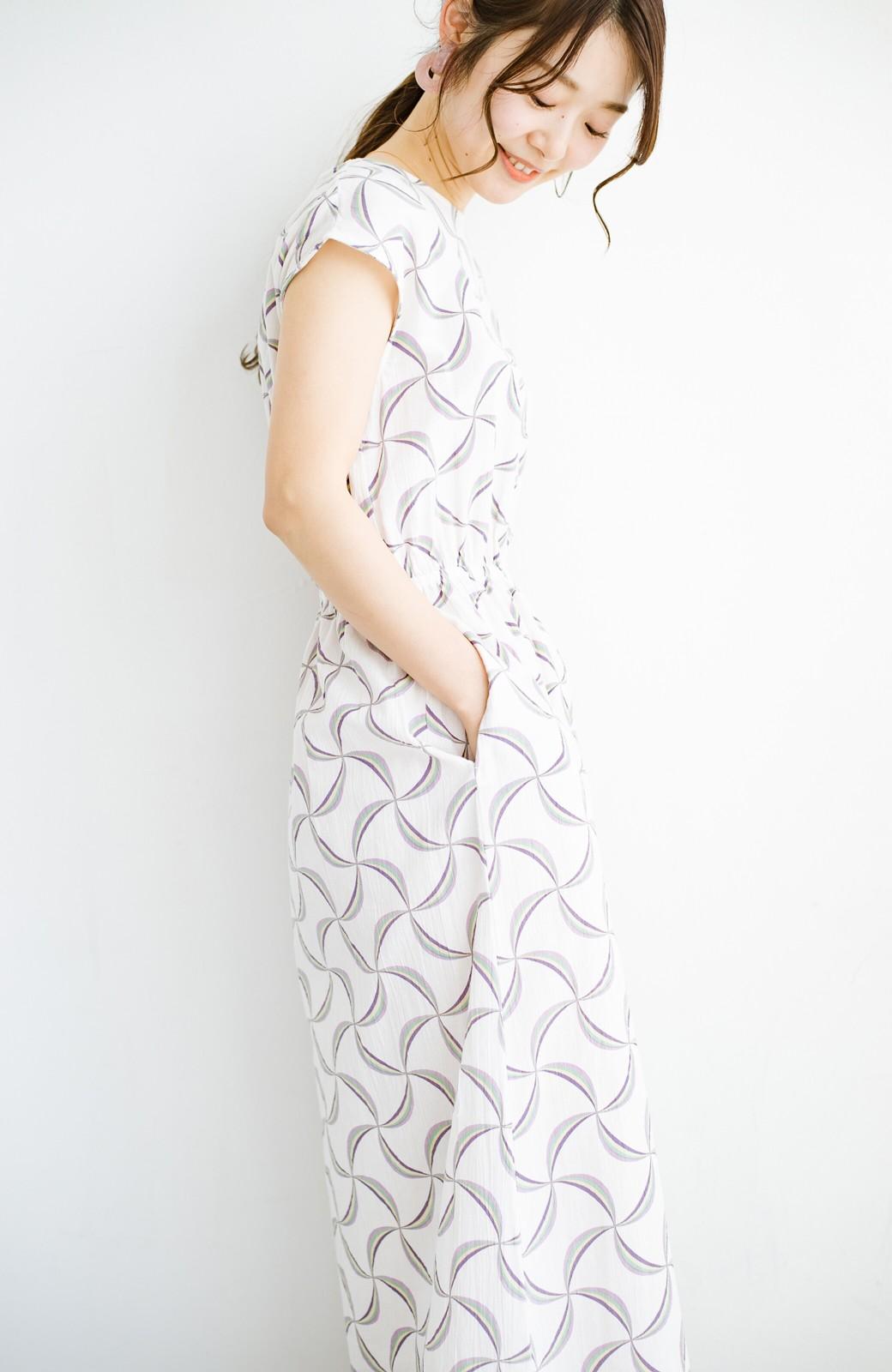 haco! 京都の浴衣屋さんと作った浴衣生地のウエストマークワンピース <ホワイト系その他>の商品写真17