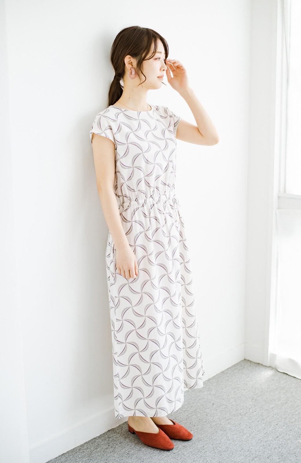 haco! 京都の浴衣屋さんと作った浴衣生地のウエストマークワンピース <ホワイト系その他>の商品写真12