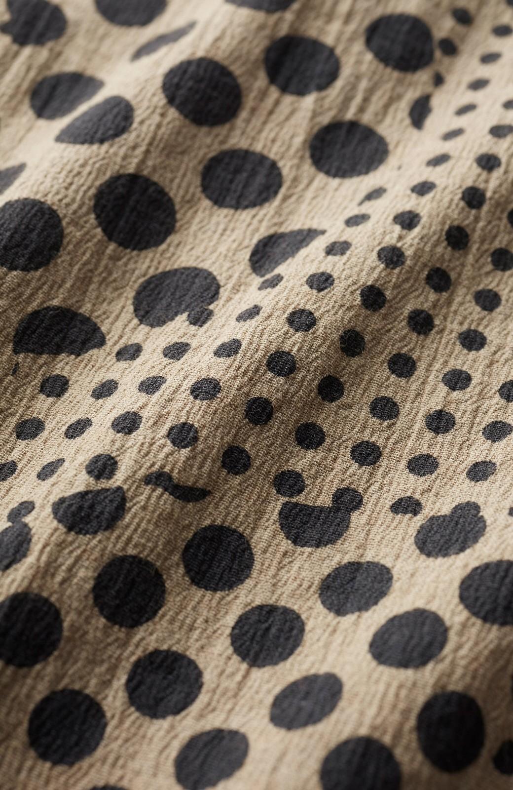 haco! 京都の浴衣屋さんと作った浴衣生地のウエストマークワンピース <ベージュ系その他>の商品写真3