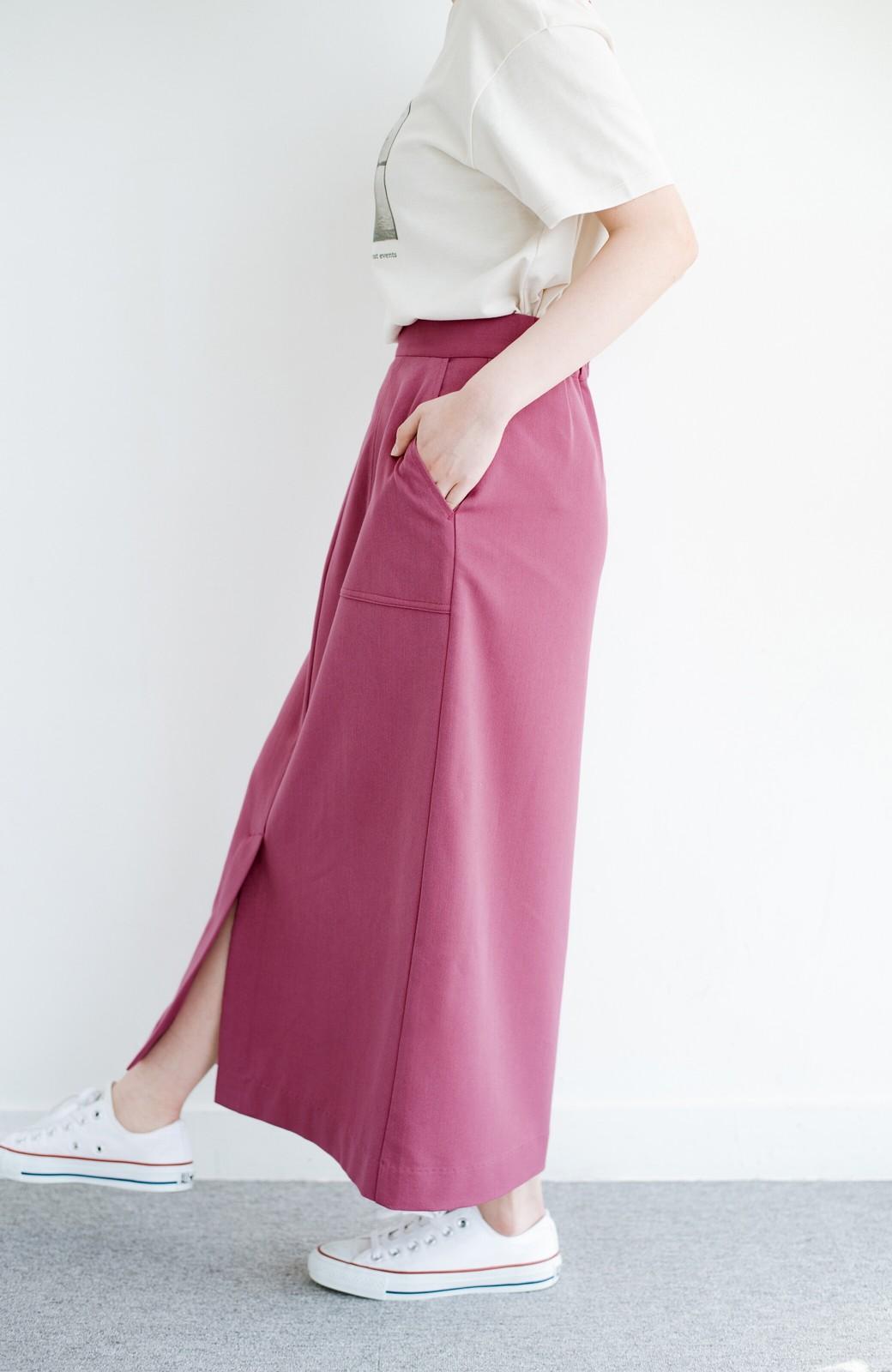 haco! カジュアルにもきれいめにも着られて便利 スリットが女っぽいセミタイトスカート <ピンク>の商品写真5
