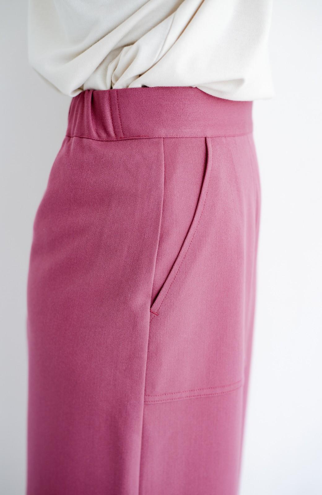 haco! カジュアルにもきれいめにも着られて便利 スリットが女っぽいセミタイトスカート <ピンク>の商品写真6