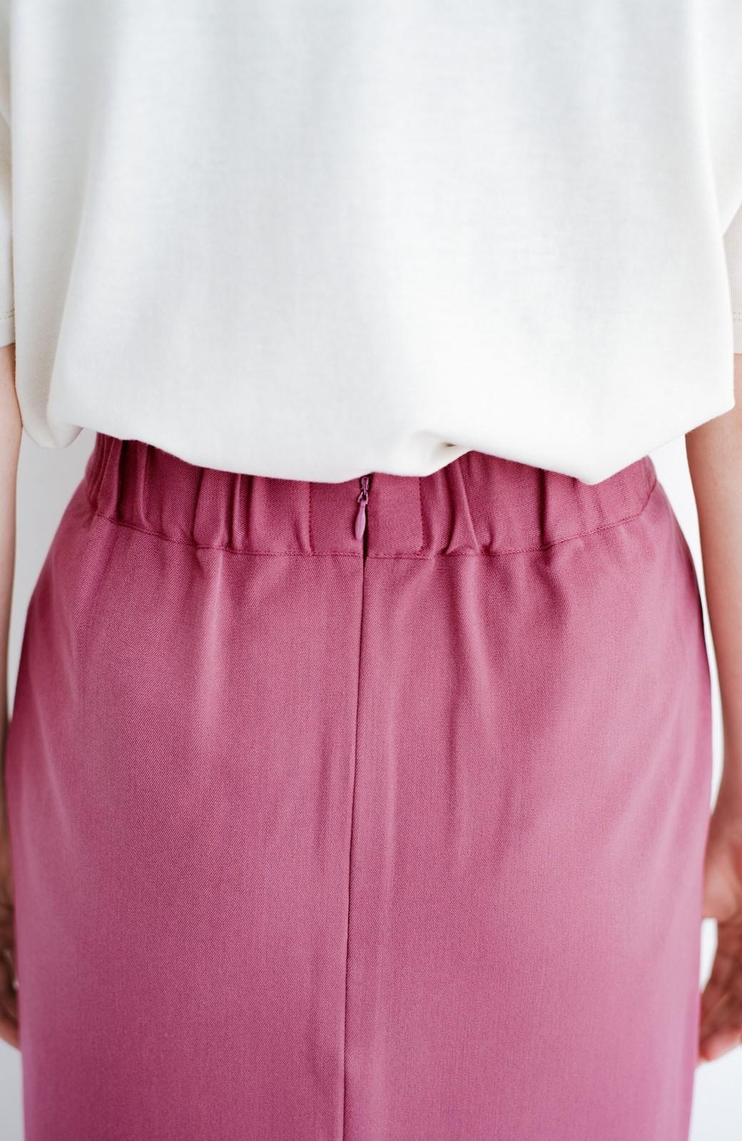haco! カジュアルにもきれいめにも着られて便利 スリットが女っぽいセミタイトスカート <ピンク>の商品写真7