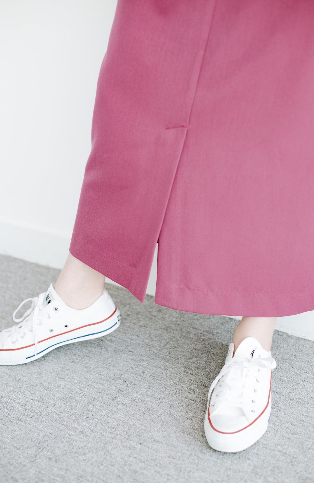 haco! カジュアルにもきれいめにも着られて便利 スリットが女っぽいセミタイトスカート <ピンク>の商品写真8