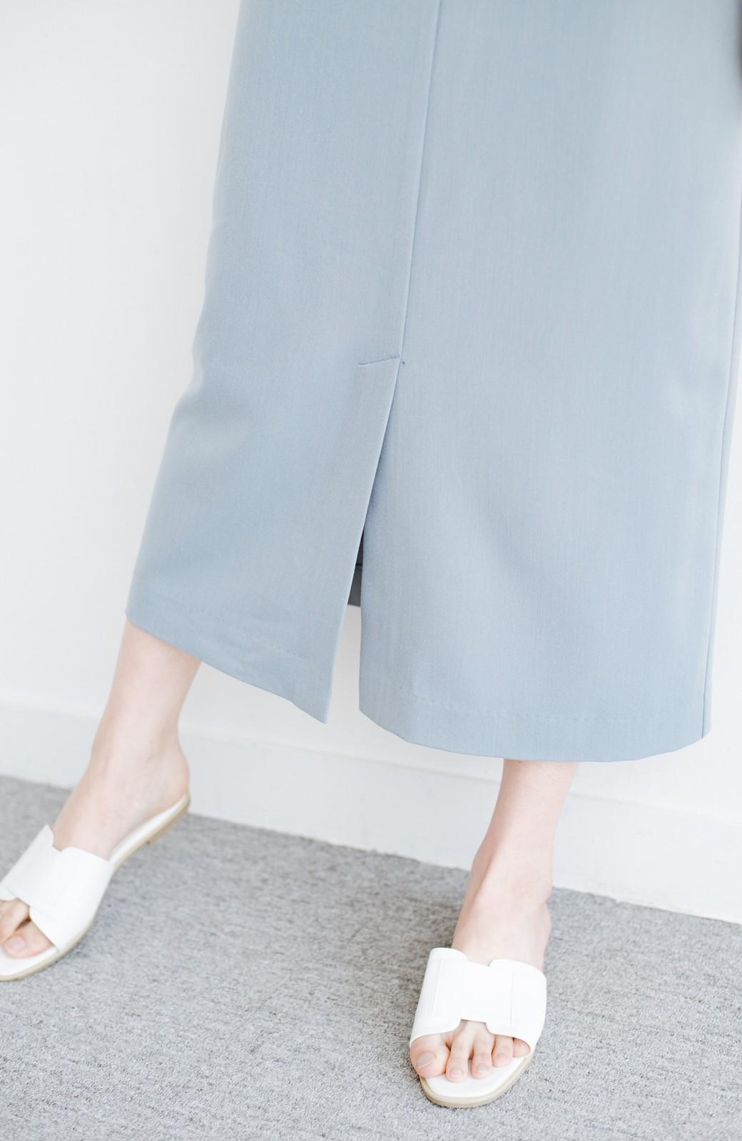 haco! カジュアルにもきれいめにも着られて便利 スリットが女っぽいセミタイトスカート <ブルー>の商品写真8