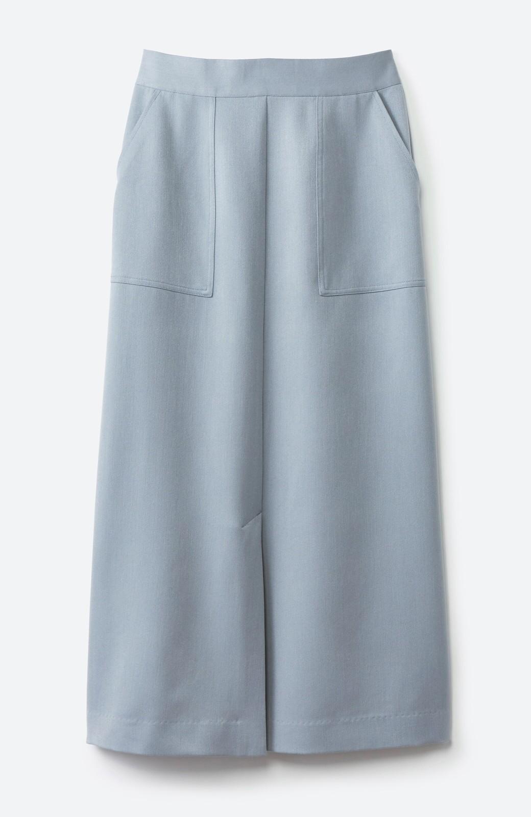 haco! カジュアルにもきれいめにも着られて便利 スリットが女っぽいセミタイトスカート <ブルー>の商品写真15