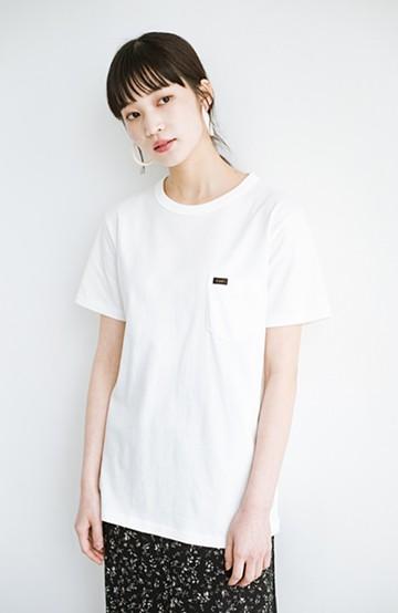 haco! LadyLee なにかとベンリな胸ポケットTシャツ <ホワイト>の商品写真