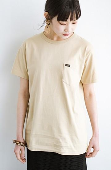haco! LadyLee なにかとベンリな胸ポケットTシャツ <ベージュ>の商品写真