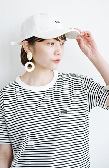 haco! LadyLee シンプルがかわいい刺しゅうロゴキャップ <ホワイト>の商品写真