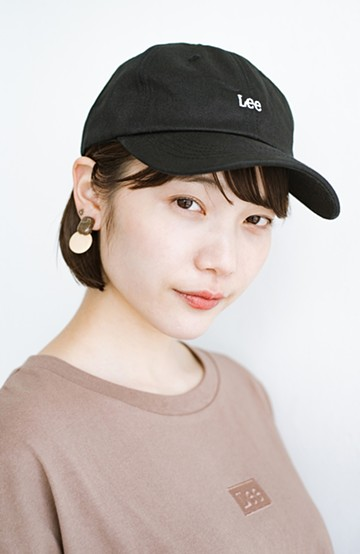 haco! LadyLee シンプルがかわいい刺しゅうロゴキャップ <ブラック>の商品写真