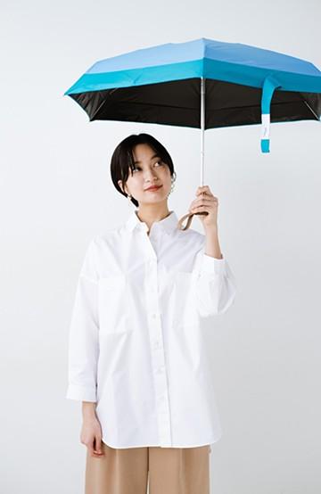 haco! Wpc. <晴雨兼用>毎日持ち歩きたい PATCHED TINY折りたたみ日傘 <ブルー>の商品写真