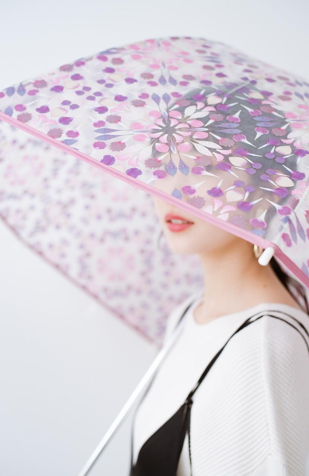 haco! Wpc.×plantica ドーム型がかわいい プラスティックアンブレラ フラワー <ピンク>の商品写真2