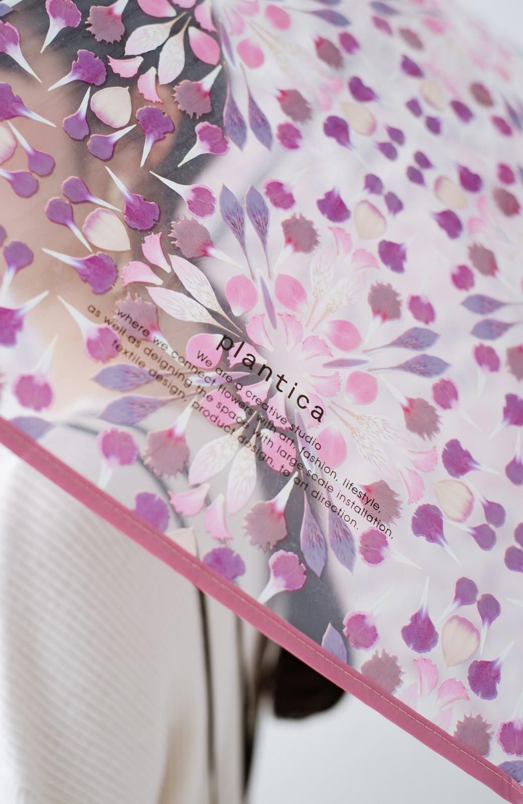 haco! Wpc.×plantica ドーム型がかわいい プラスティックアンブレラ フラワー <ピンク>の商品写真3