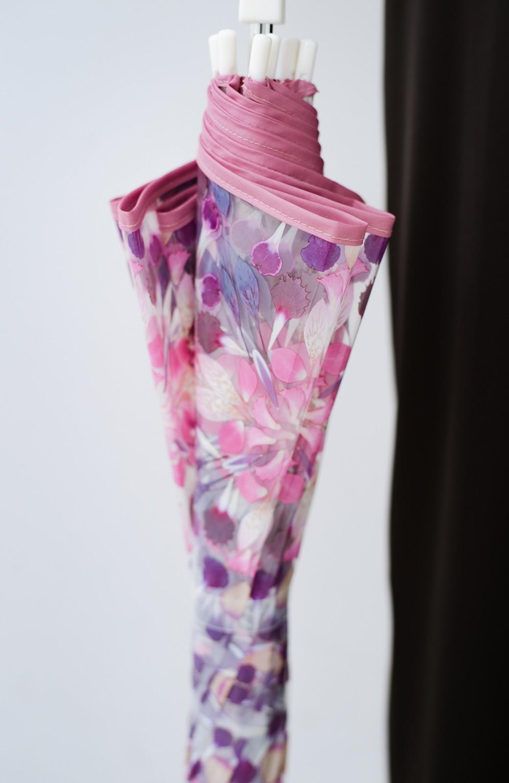 haco! Wpc.×plantica ドーム型がかわいい プラスティックアンブレラ フラワー <ピンク>の商品写真7