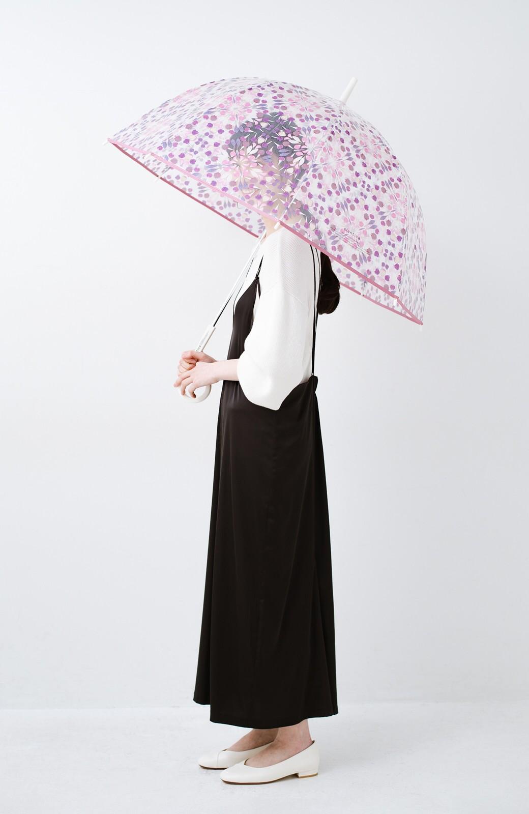 haco! Wpc.×plantica ドーム型がかわいい プラスティックアンブレラ フラワー <ピンク>の商品写真11