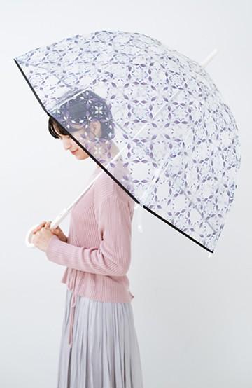 haco! Wpc.×plantica ドーム型がかわいい プラスティックアンブレラ フラワー <ブルー>の商品写真