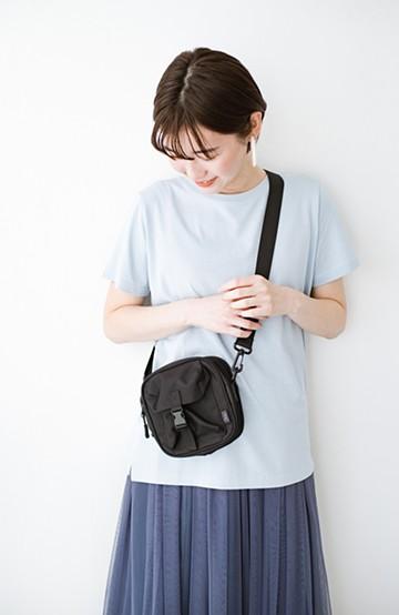 haco! KiU スクエアポーチショルダーバッグ <ブラック>の商品写真