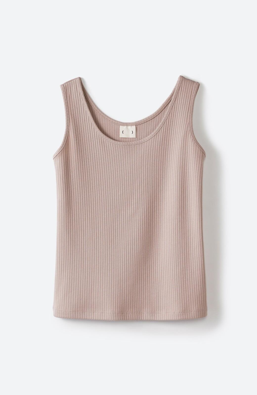 haco! 気になっていたあのデザインを取り入れやすく!こなれ衿Tシャツとタンクトップのセット <ホワイト>の商品写真4