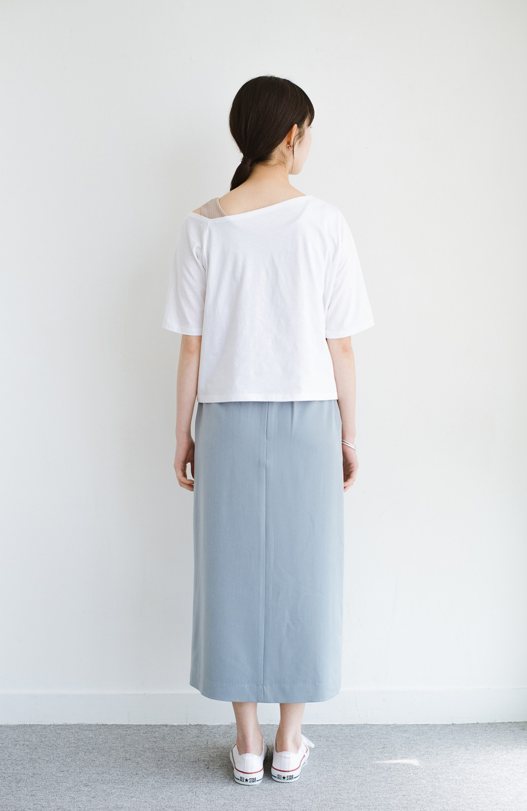 haco! 気になっていたあのデザインを取り入れやすく!こなれ衿Tシャツとタンクトップのセット <ホワイト>の商品写真10