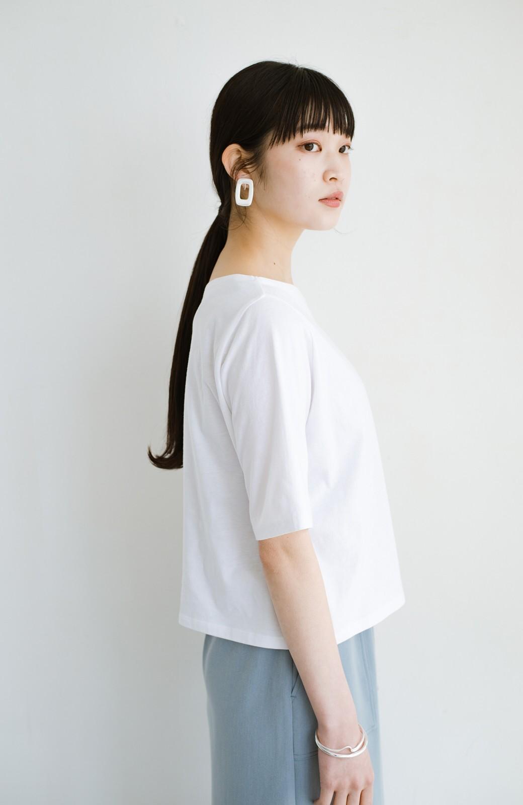 haco! 気になっていたあのデザインを取り入れやすく!こなれ衿Tシャツとタンクトップのセット <ホワイト>の商品写真7