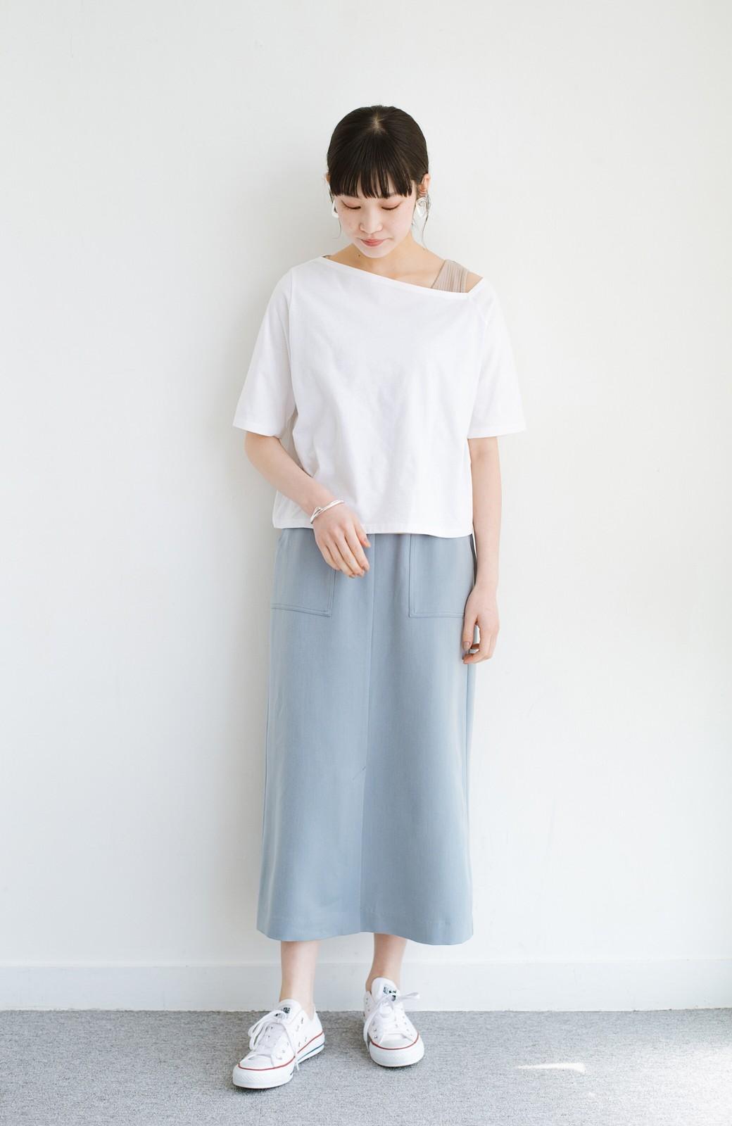 haco! 気になっていたあのデザインを取り入れやすく!こなれ衿Tシャツとタンクトップのセット <ホワイト>の商品写真8