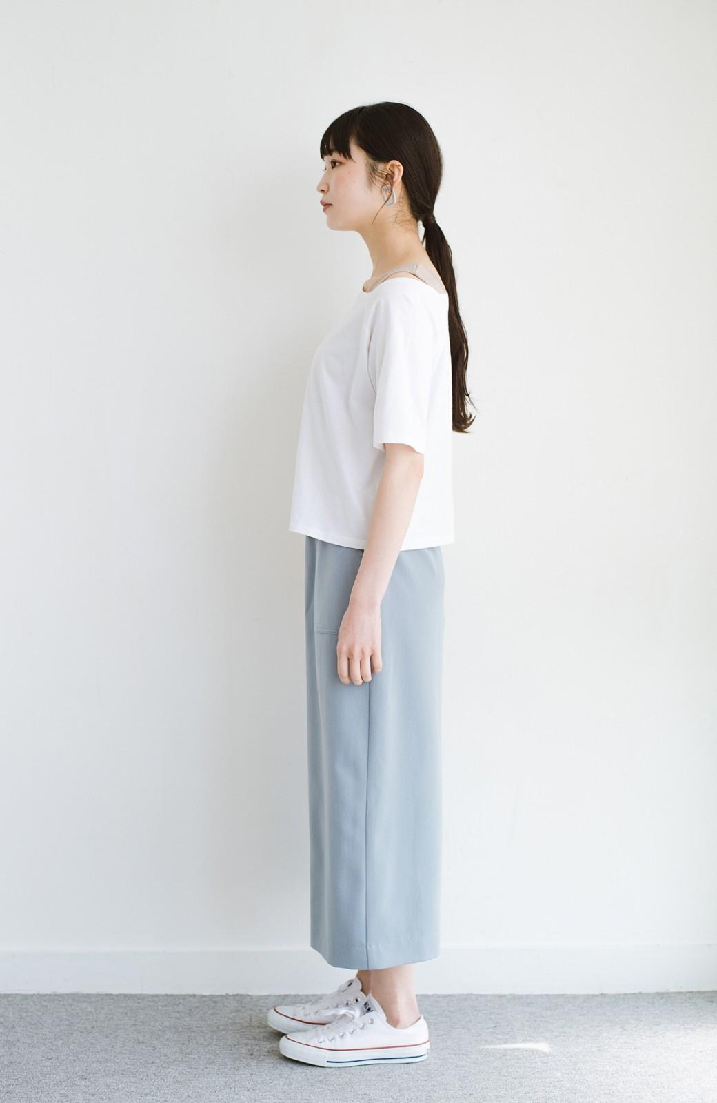 haco! 気になっていたあのデザインを取り入れやすく!こなれ衿Tシャツとタンクトップのセット <ホワイト>の商品写真16