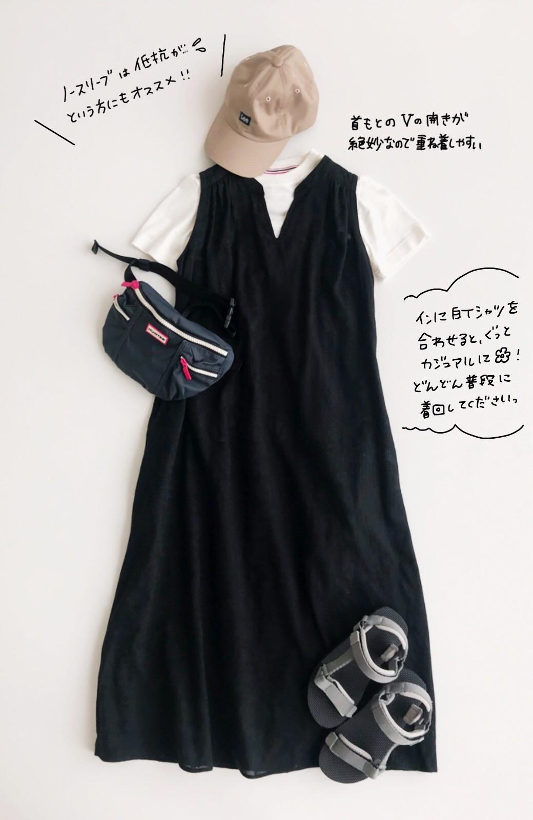 haco! 京都の浴衣屋さんと作った浴衣生地のロングワンピース <ブラック>の商品写真24