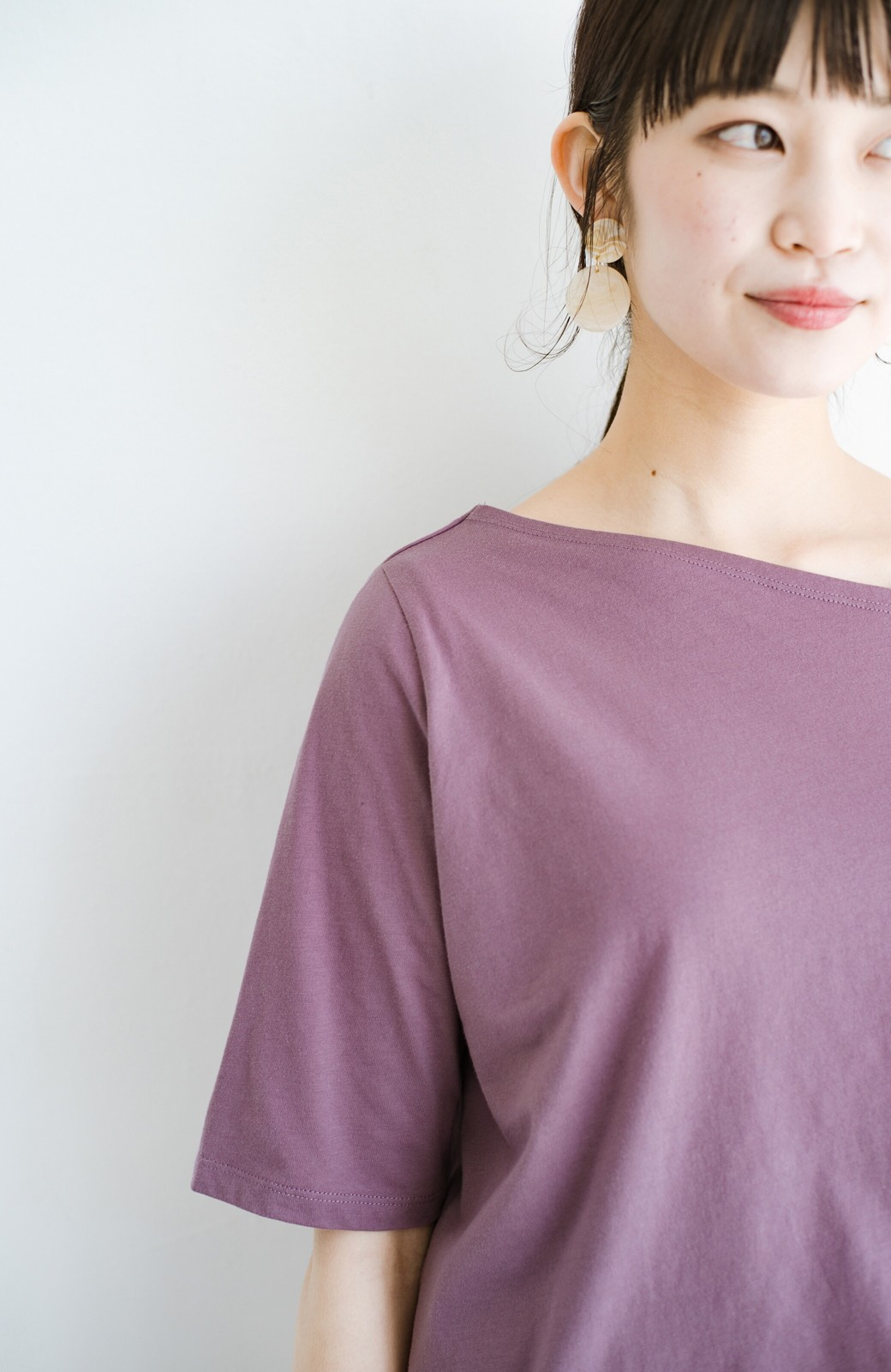 haco! 気になっていたあのデザインを取り入れやすく!こなれ衿Tシャツとタンクトップのセット <パープル>の商品写真5
