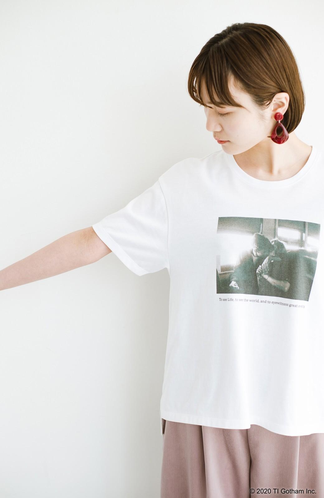 haco! フォトマガジン「LIFE」コラボ 大人のためのしなやかフォトプリントTシャツ <ホワイト>の商品写真6