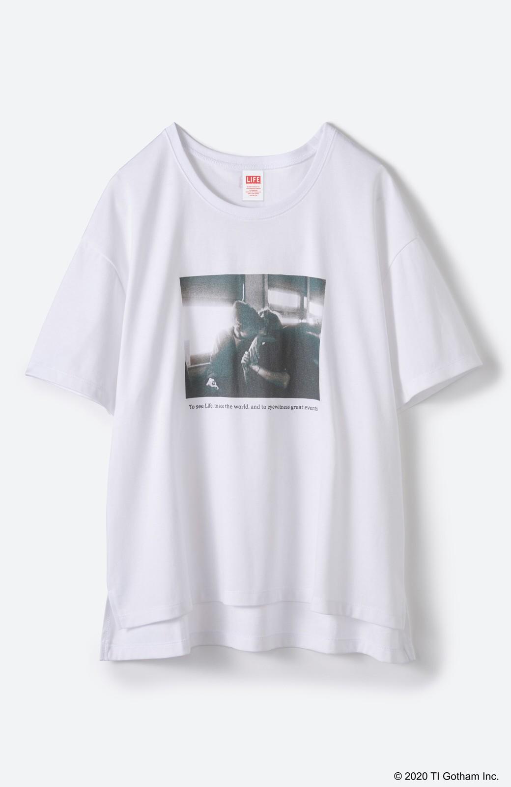 haco! フォトマガジン「LIFE」コラボ 大人のためのしなやかフォトプリントTシャツ <ホワイト>の商品写真14