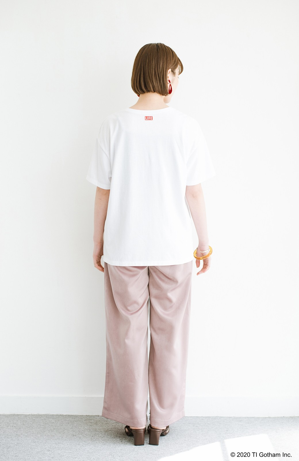 haco! フォトマガジン「LIFE」コラボ 大人のためのしなやかフォトプリントTシャツ <ホワイト>の商品写真12