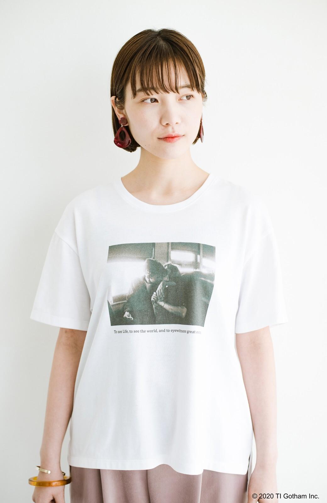 haco! フォトマガジン「LIFE」コラボ 大人のためのしなやかフォトプリントTシャツ <ホワイト>の商品写真8