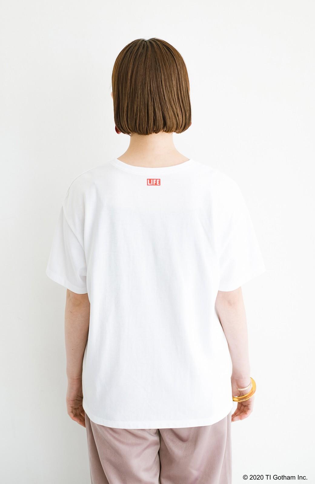 haco! フォトマガジン「LIFE」コラボ 大人のためのしなやかフォトプリントTシャツ <ホワイト>の商品写真13
